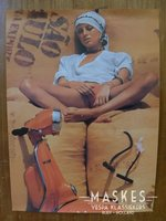 Poster vespa Rally Oranje 1 girl