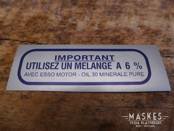 Mixed fuels sticker  6% blue MISA GS150
