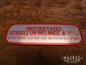 Mixed fuels sticker 2% red MISA  GL-A