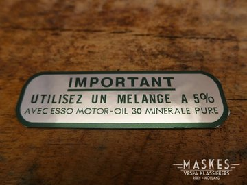 Mixed fuels sticker 5% green MISA  VN/VL/VGL/VNA