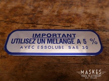 Mixed fuels sticker 5% blue MISA  GS160