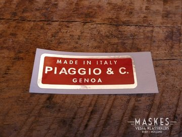 Sticker Piaggio & C.   50mm