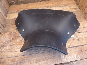 Single saddle cover front black V1-15