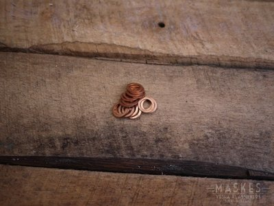 Copper ring for oil drain/filling bolt