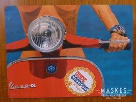 Poster vespa Rally rood 1 girl